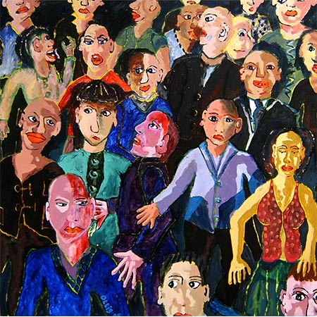 A Crowd of People 2004, Oil on canvas, 180 x 180cm