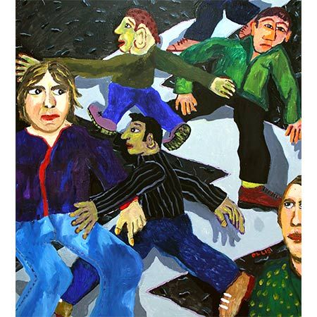 Argy-Bargy 2006, Oil on canvas, 160 x 120cm