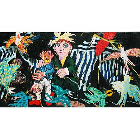 Ventriloquist 2004, Oil on canvas 180 x 330cm