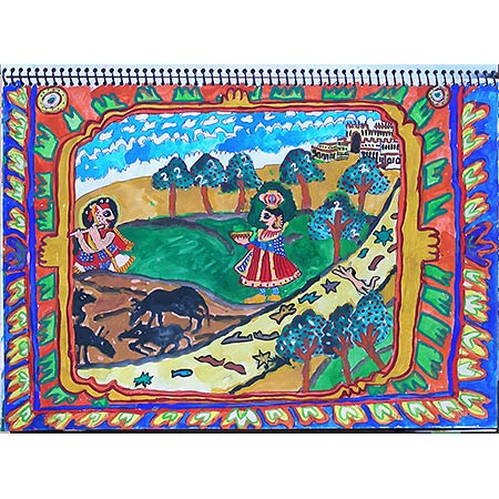 A page from 2007 Travelling sketch book Shekhawati India, study in gouache
