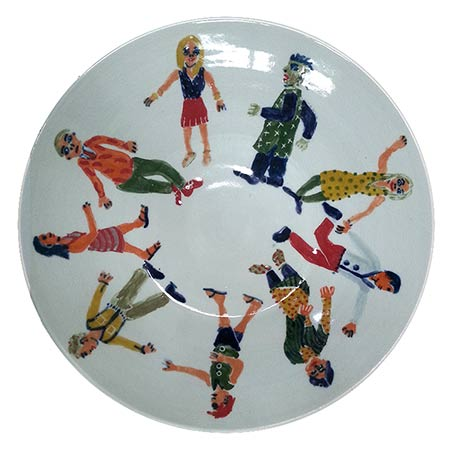 Platter 2012, in collaboration with potter Ian Smith - Wentworth Falls, NSW, Ceramic 40cm dia.